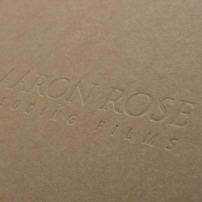 Debossed Logo on a custom box