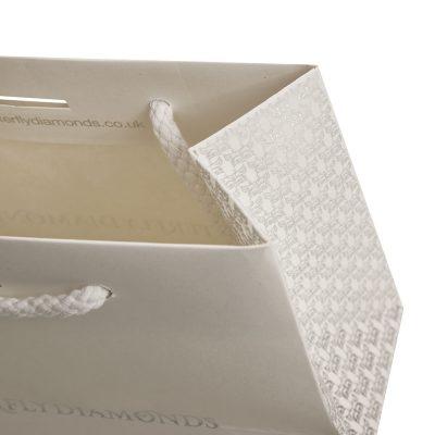 Uncoated white kraft luxury paper bag